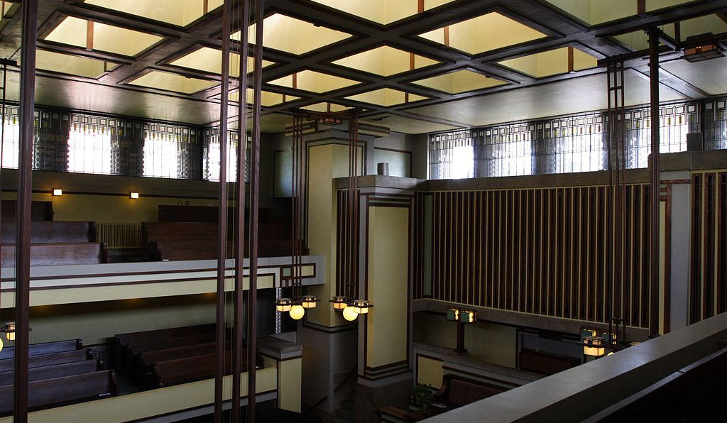 Unity Temple in Oak Park.