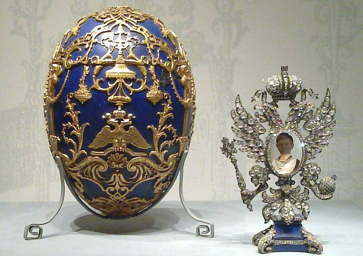 Caption: Imperial Russia's Expensive Easter Gifts