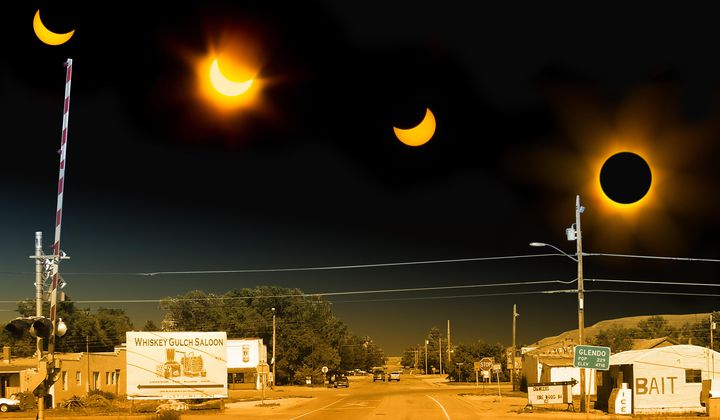 Tiny Towns Shine Under Eclipse