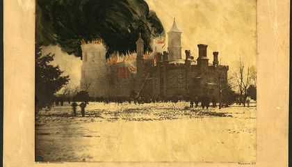 The Devastating Fire That Nearly Consumed the Smithsonian Castle in 1865