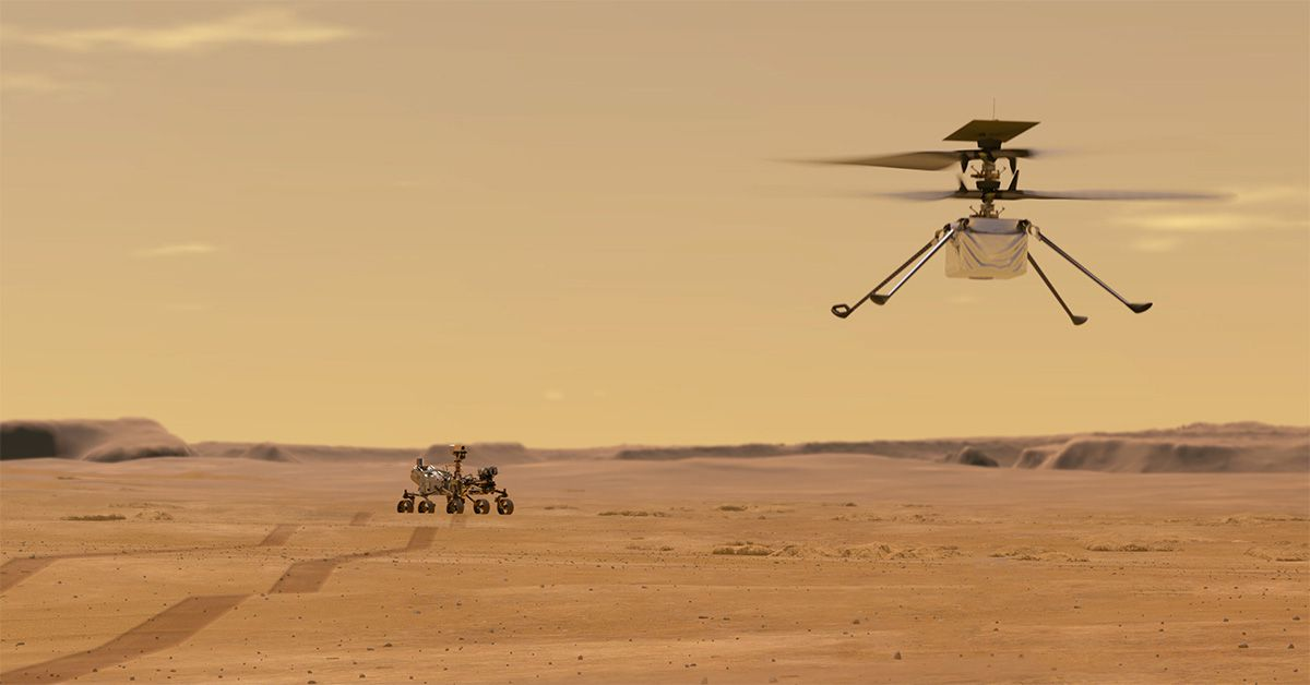 NASA's Helicopter Ingenuity Will Attempt the First Flight on Mars