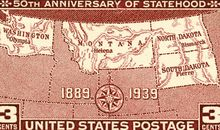 Anniversary of Statehood stamp