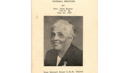 New Digital Archive Explores 133 Years of African American Funeral Programs