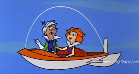"Jane Jetson gets a driving lesson in the 18th episode of ""The Jetsons"" (1963)"