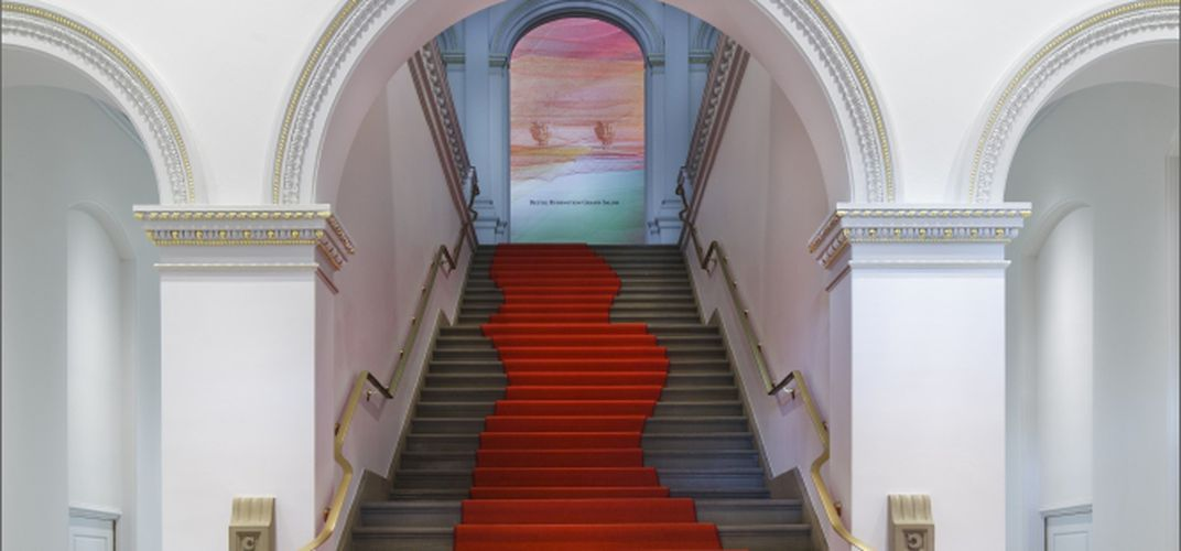 The dramatic grand entry of the Renwick Gallery