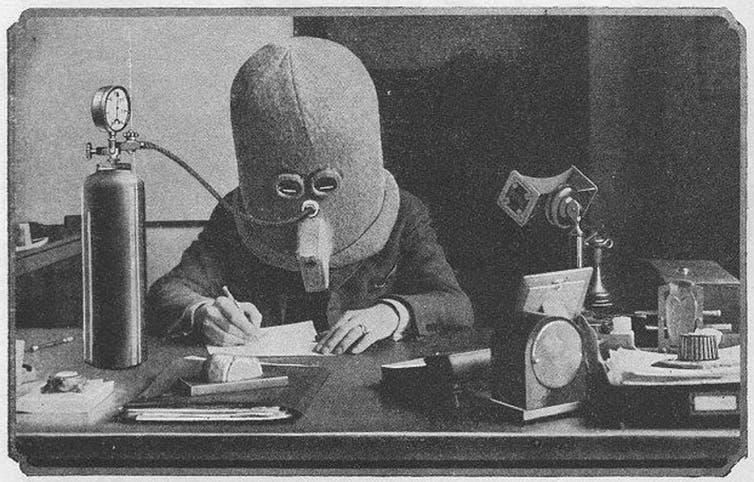A drawing of Hugo Gernsback's 'Isolator' appeared in a 1925 issue of the magazine 'Science and Invention.'