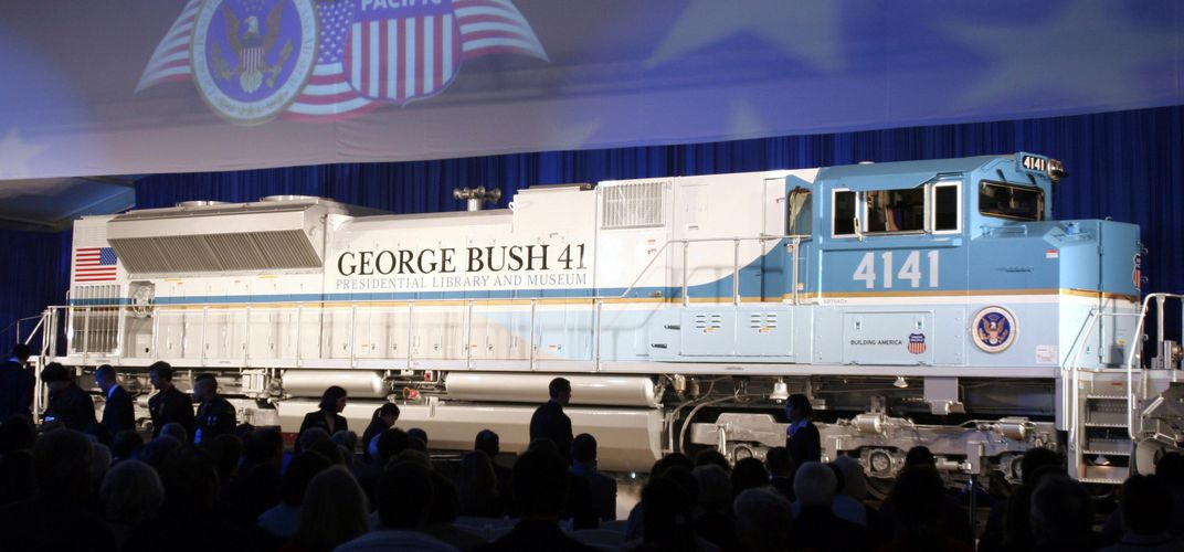 Caption: Somber History of the Presidential Funeral Train