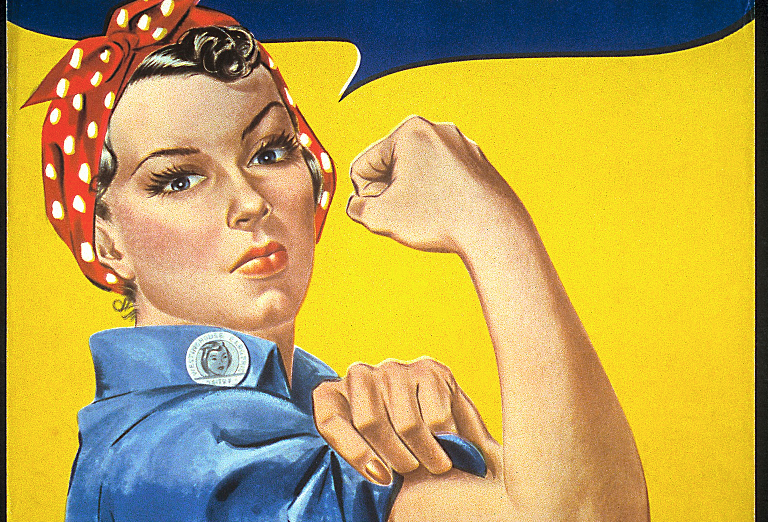 You may know the woman depicted here as Rosie the Riveter, but she wasn't originally called that