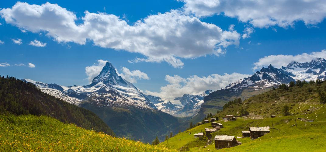Matterhorn peak in the Swiss Alps