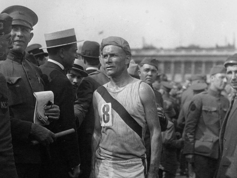 Bill Kennedy placed second in France's Chateau-Thierry-to-Paris relay race, in 1919.