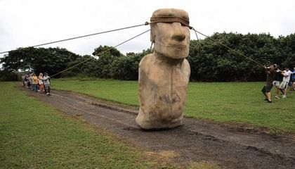 How Easter Island Statues 'Walked' To Their Stations