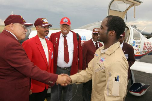 Barrington Irving, the youngest pilot to fly solo around the world.