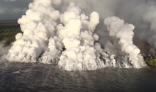 Watch Kīlauea's Lava Flow Into the Ocean, Creating Billowing Clouds of 'Laze'