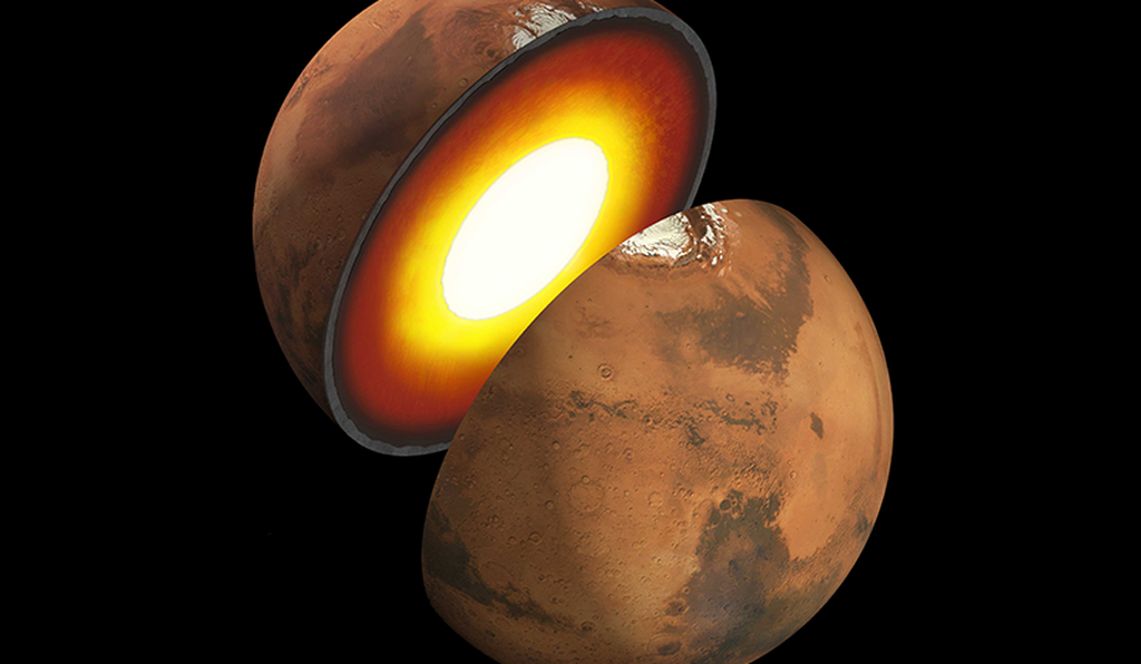 The researchers predict that Mars' crust is either 12.4 or 23 miles thick, making it considerably thinner than that of Earth, which can be up to 25 miles thick.