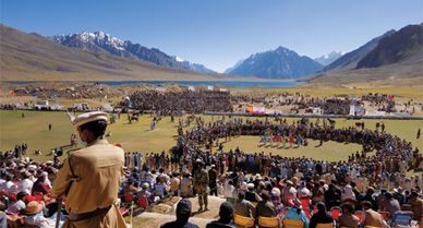 the Shandur Pass turns into the worlds highest polo grounds