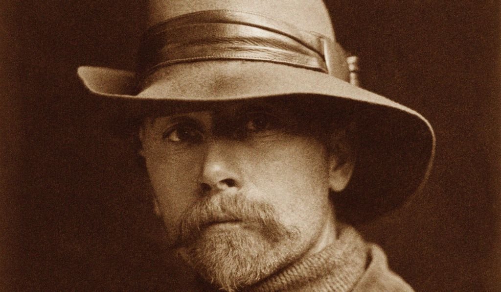 Self-portrait of Edward S. Curtis.
