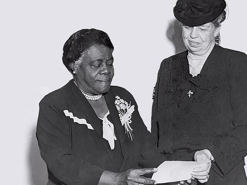 Mary McLeod Bethune and Eleanor Roosevelt in 1940