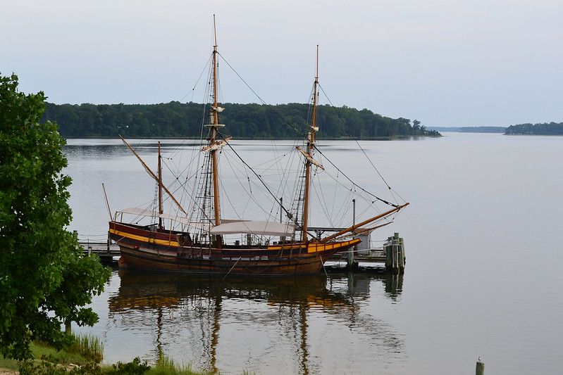 A modern recreation of the Dove, one of the ships that brought English colonists to Maryland in 1634