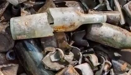 Hundreds of Liquor Bottles, Downed by British Soldiers during WWI, Found in Israel