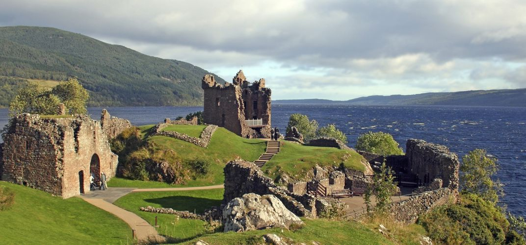 Urquhart Castle, on the shore of Loch Ness