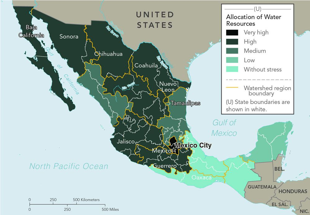 The cia is celebrating its cartography divisions 75th anniversary 2010s map of water allocation in mexico cia gumiabroncs Images