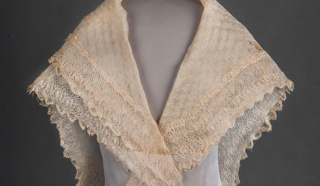 Silk lace and linen shawl given to Harriet Tubman by Queen Victoria.