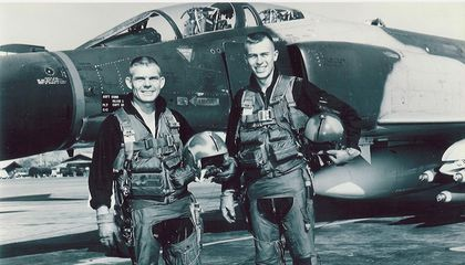 Bob Pardo Once Pushed a Crippled F-4 Home With His F-4. In Flight.