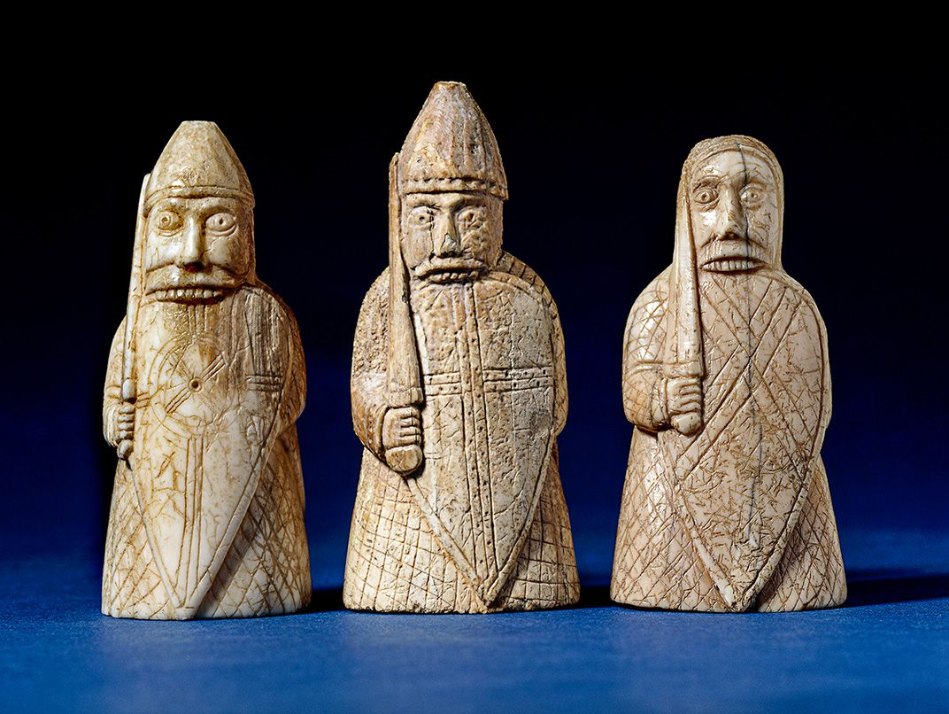 The Lewis Chessmen Carved From Walrus Ivory Were Found In Scotland Far Where They Created Scandinavia Trustees Of British Museum