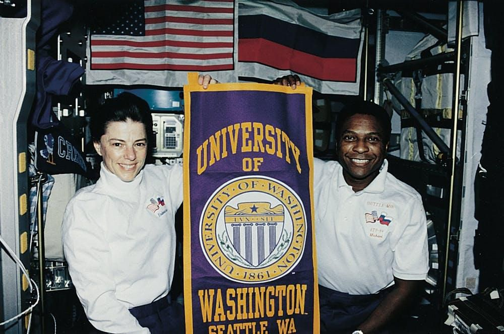 Mike Anderson and Bonnie Dunbar