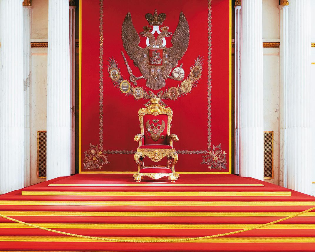 Throne of Nicholas II, in St. Petersburg