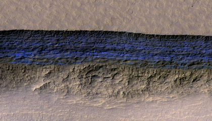 Martian Ice Cliffs Make a Tempting Destination