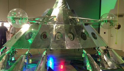 Watch George Clinton's P-Funk Mothership Get Reassembled For Its Museum Debut