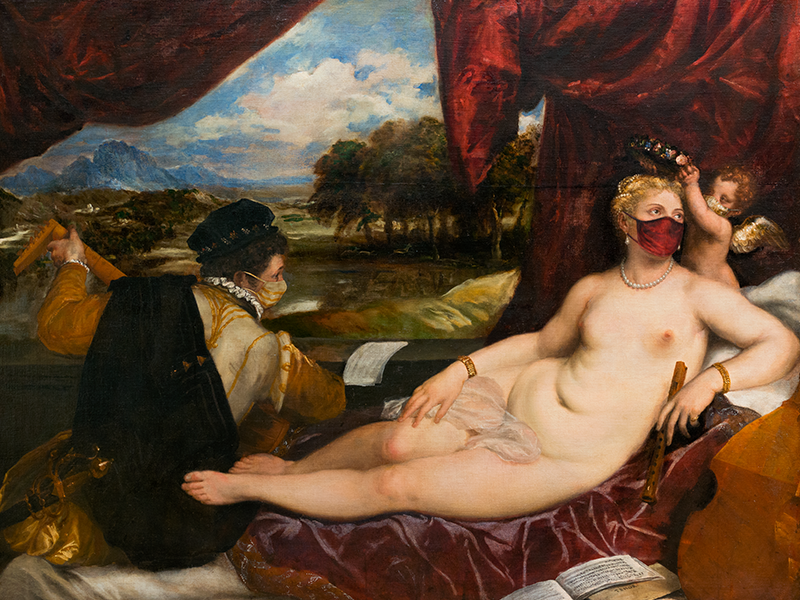 Titian, Venus and Cupid With a Lute Player