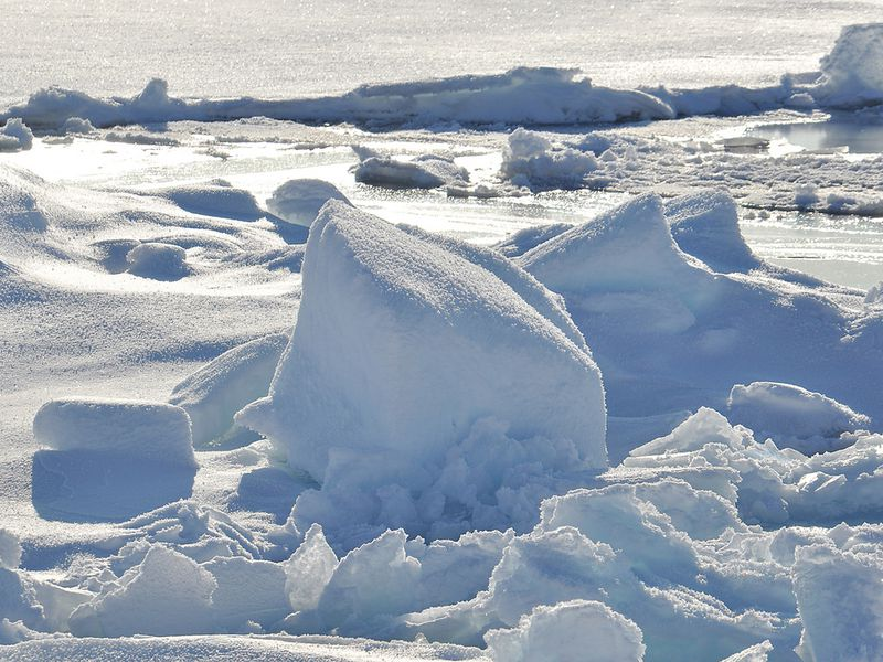Ice on Arctic Ocean