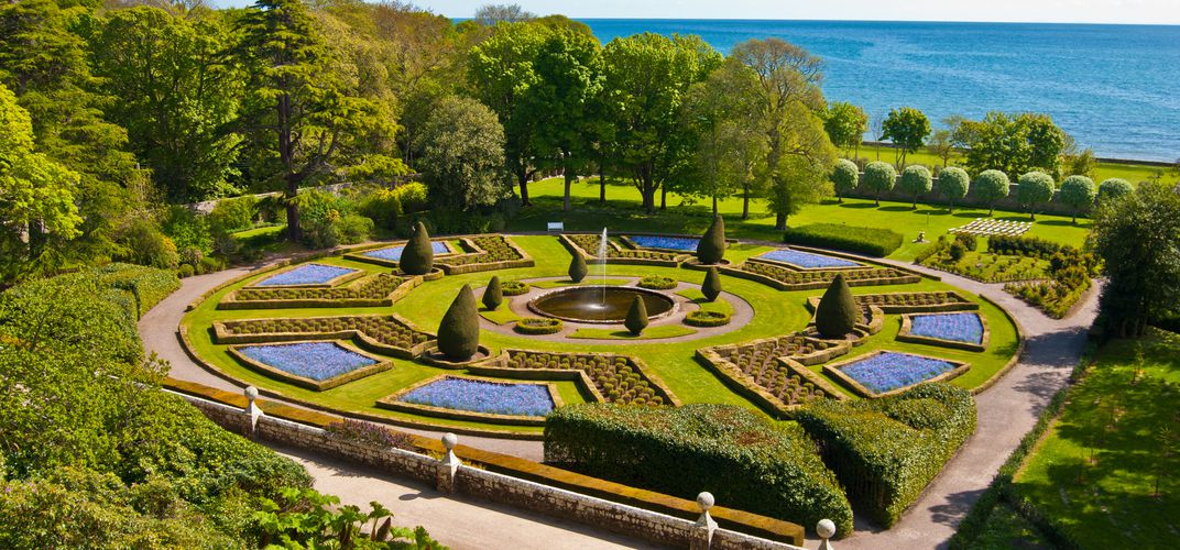 The gardens at Dunrobin Castle
