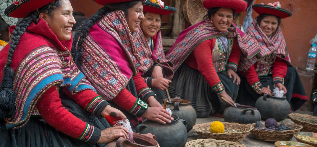 Local women in the Andes. Credit: Richard Stanoss
