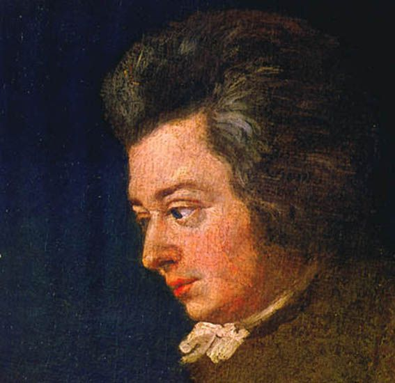 An unfinished portrait of Mozart, from 1782.