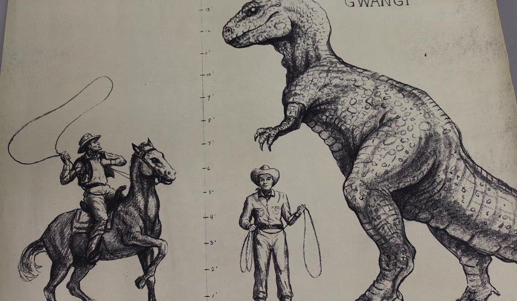An early sketch for 1969's <i>The Valley of Gwangi</i>