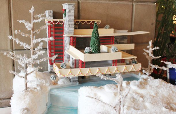 fallingwater in gingerbread
