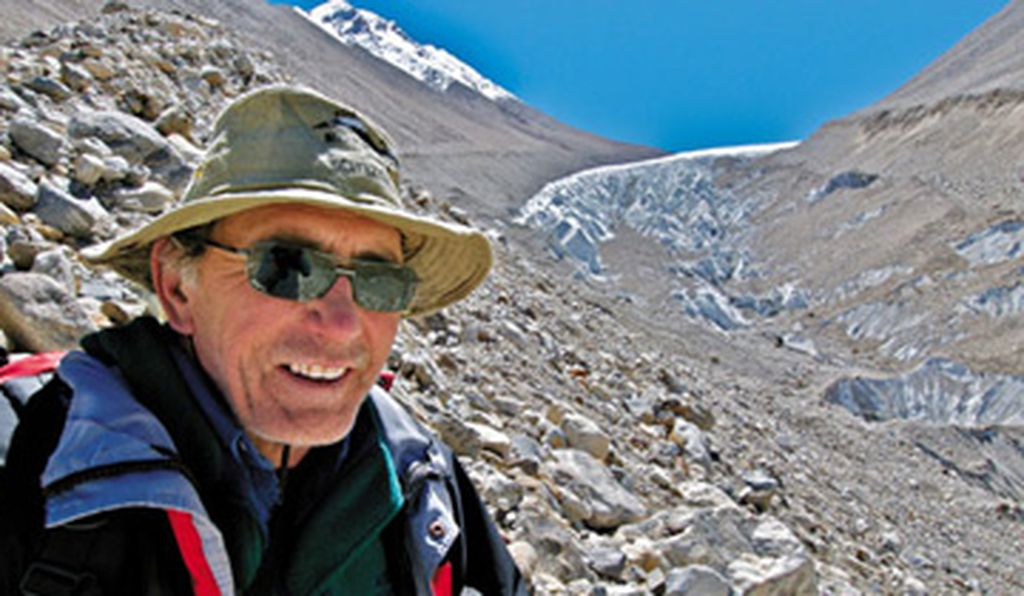 Skeptics said it couldn't be done, but Lonnie Thompson (about to ascend the Naimona'nyi glacier in Tibet) has shown that glaciers yield clues to the rise and fall of civilizations thousands of years ago—and possibly in the near future.