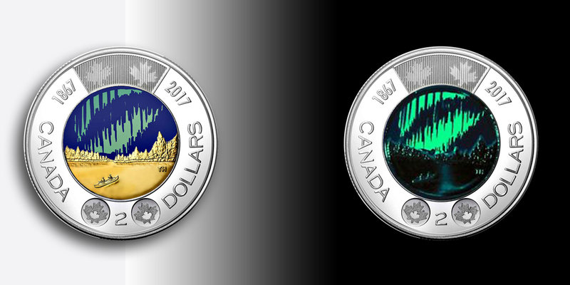 Canada's New Two-Dollar Coins Glow in the Dark | Smart News
