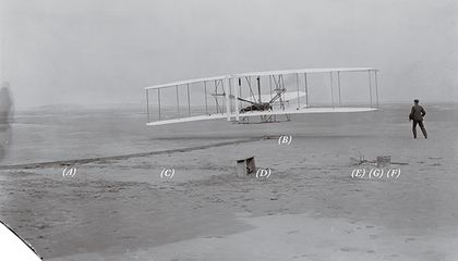 The Wright Brothers' First Flight Photo, Annotated