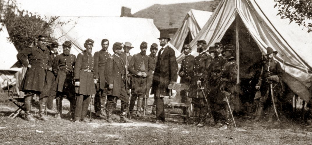 Lincoln and his generals by Alexander Gardner. Credit: National Park Service