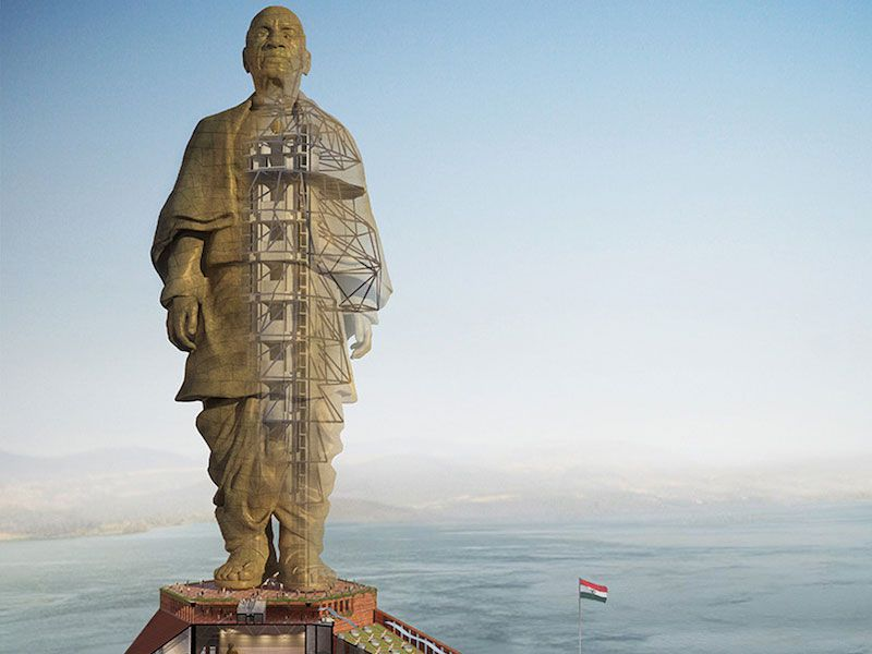 Image result for Images of Patel tallest statue in the world