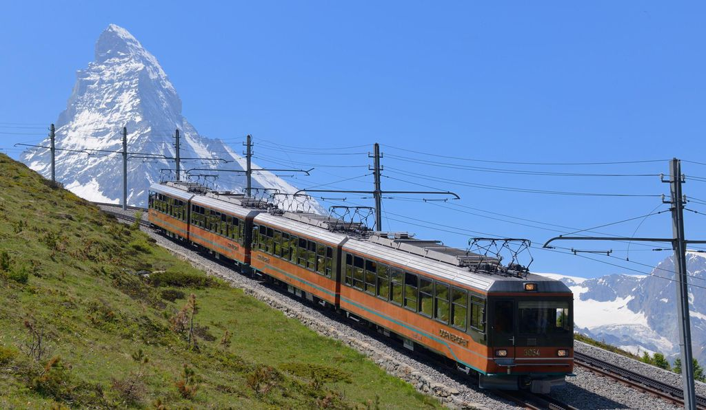 The Matterhorn Gotthard Bahn train is a great way to get close to the mountain without actually having to climb it.