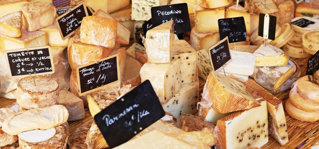 Traditional Provencal cheese market