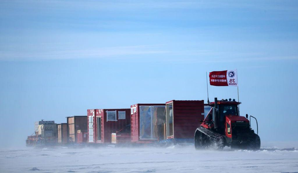 China's 35th Antarctic expedition sends 37 members of two inland expedition teams to the Kunlun and Taishan stations in Antarctica Dec. 18, 2018.