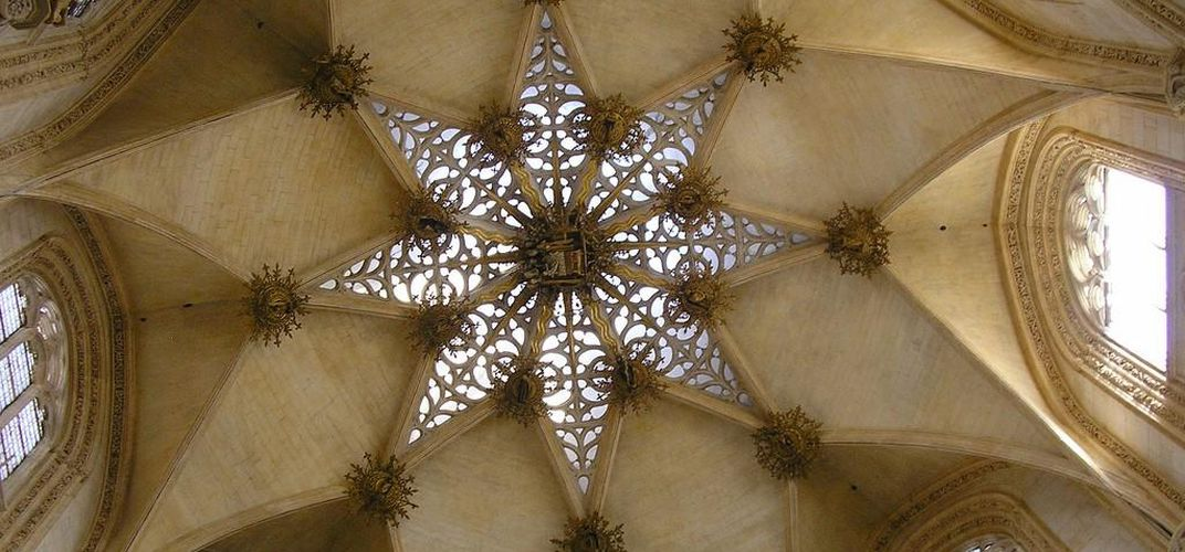 Ceiling design in the sumptuous Burgos Cathedral. Credit: Nigel Swales
