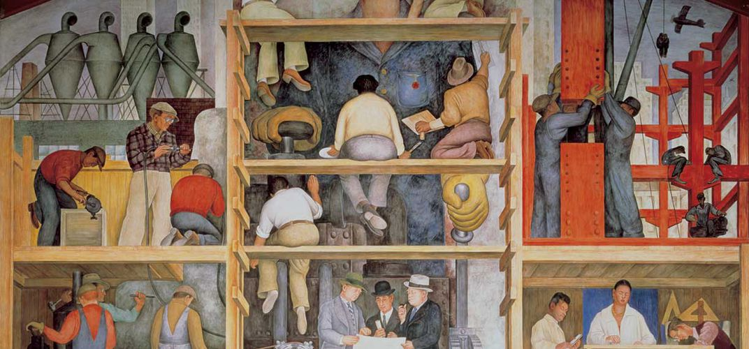 Caption: Plan to Sell Diego Rivera Mural Sparks Controversy