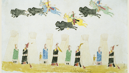 Indian Ledger Drawings at the American History Museum